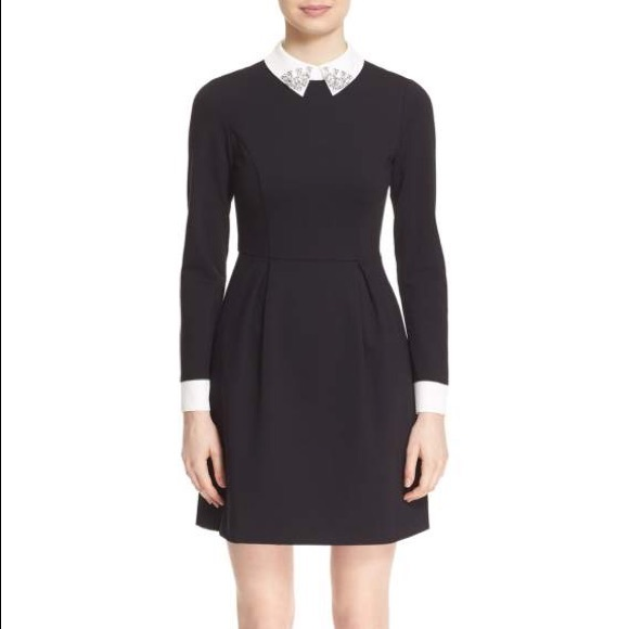3392fe629cecd6 Ted Baker Moona Embellished Collar Dress. M 5ae722fd077b97d2b3a285ba